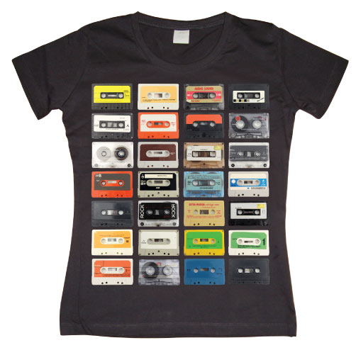 Mixed Tapes Girly T-shirt