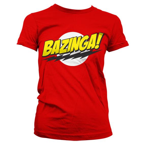Bazinga Super Logo Girly Tee