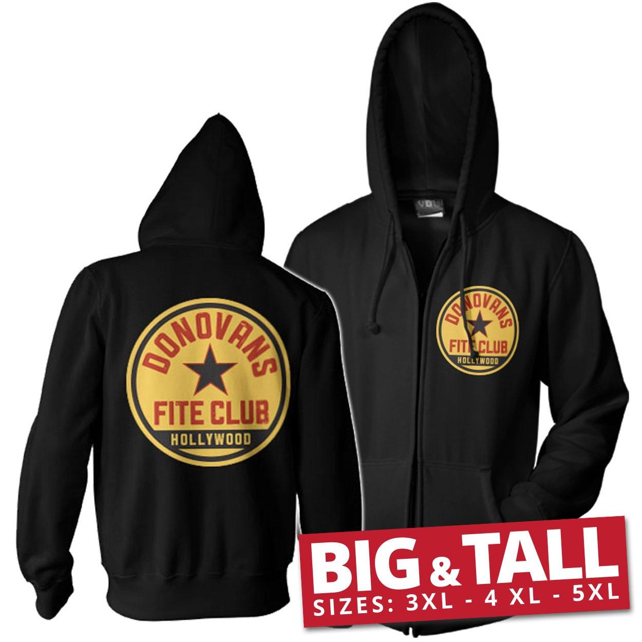 Donovans Fite Club Big & Tall Zipped Hoodie