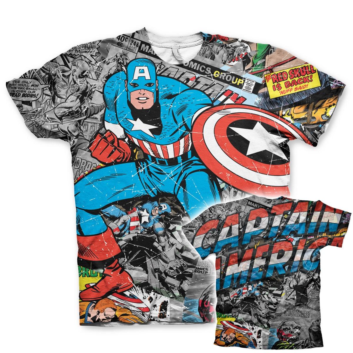 Captain America Comic Allover T-Shirt