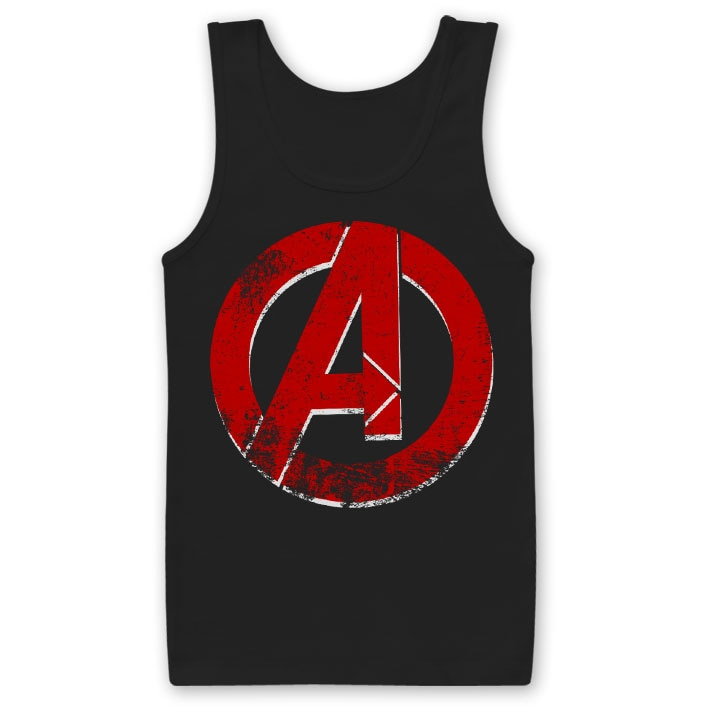 The Avengers Distressed A Logo Tank Top