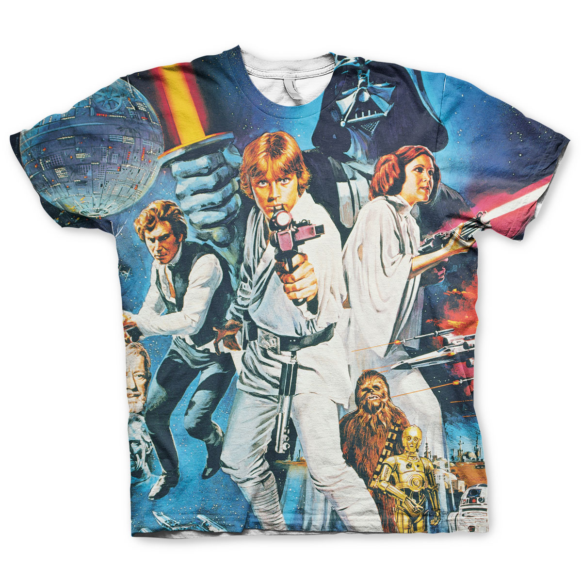 Star Wars Allover Retro Poster T-Shirt