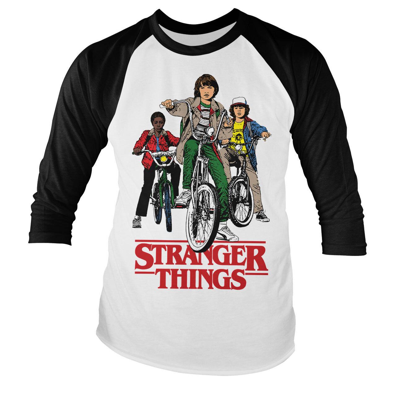 Stranger Things Bikes Baseball Long Sleeve Tee