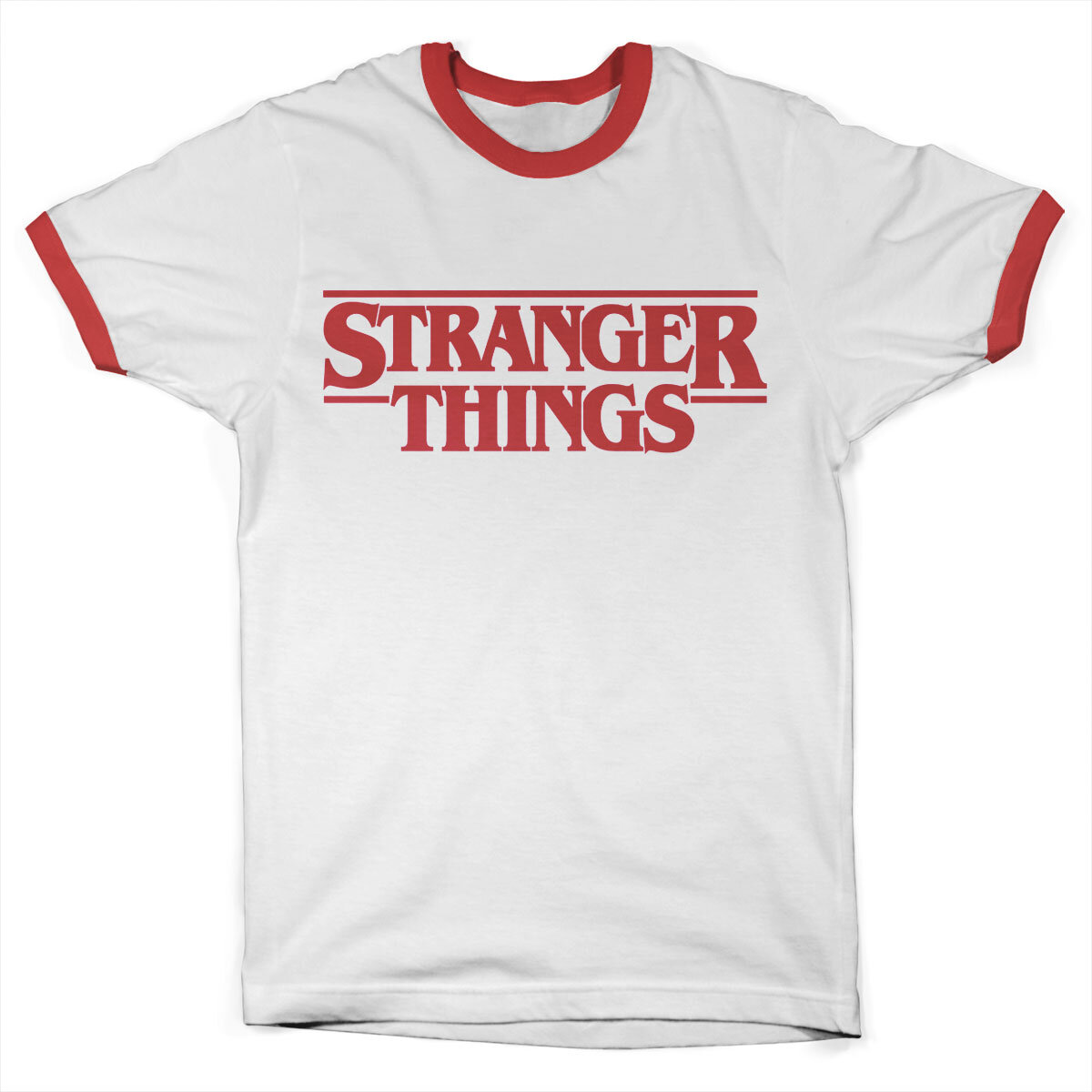 Stranger Things Logo Ringer Tee