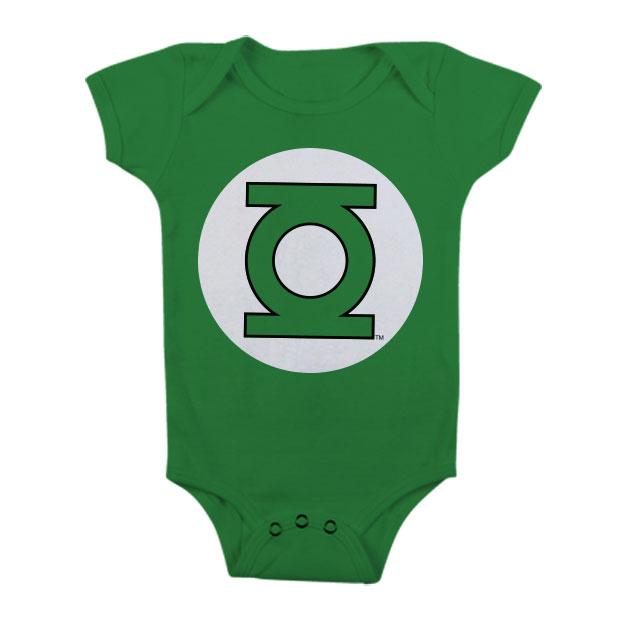 Green Lantern Logo Baby Body