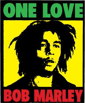Bob Marley One Love sticker.