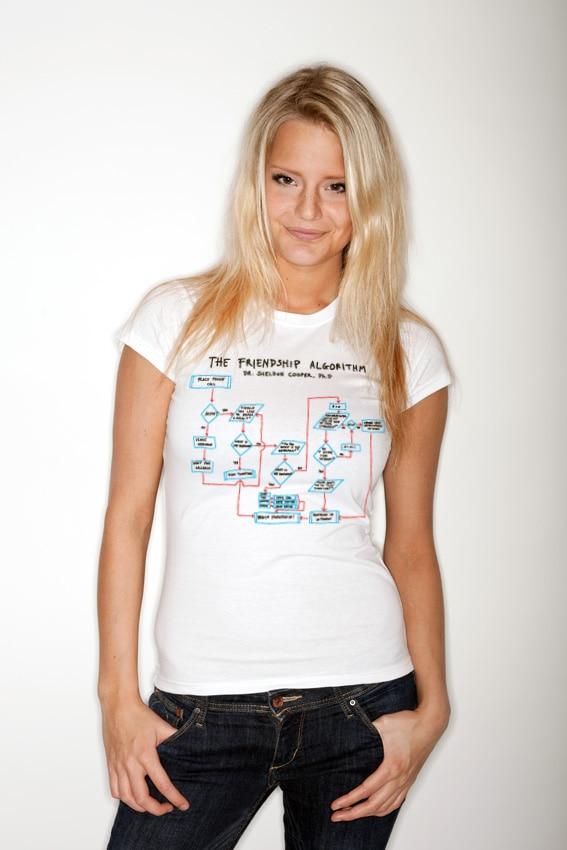 Dr. Sheldon Cooper´s Friendship Algorithm Girly T-Shirt